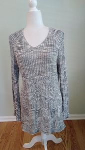 INC  knit top tunic with metallic thread